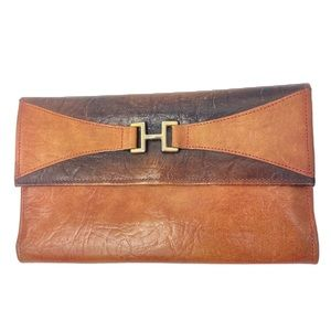 Vintage 70s Cowhide Leather Wallet 7x4